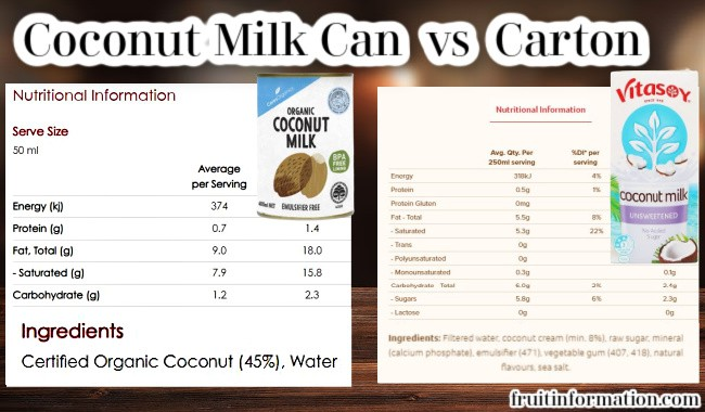 Coconut Milk Can vs Carton