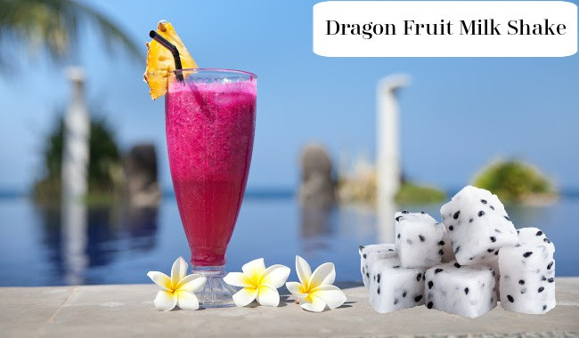 Dragon Fruit Milk Shake