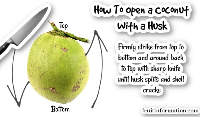 How To Open Coconut with Husk